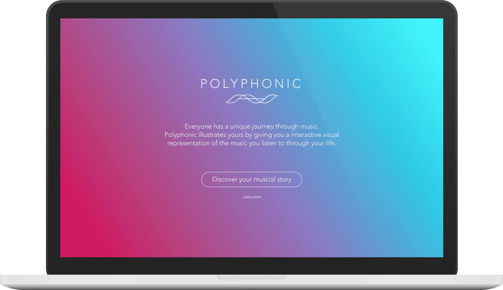 Polyphonic website splash screen